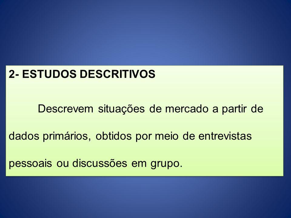 2- ESTUDOS DESCRITIVOS