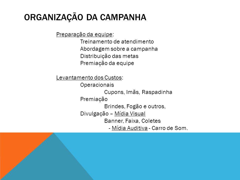 ORGANIZAÇÃO DA CAMPANHA