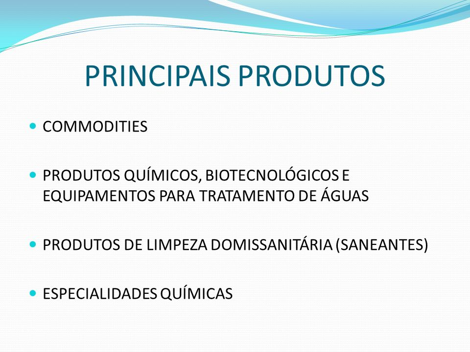 PRINCIPAIS PRODUTOS COMMODITIES
