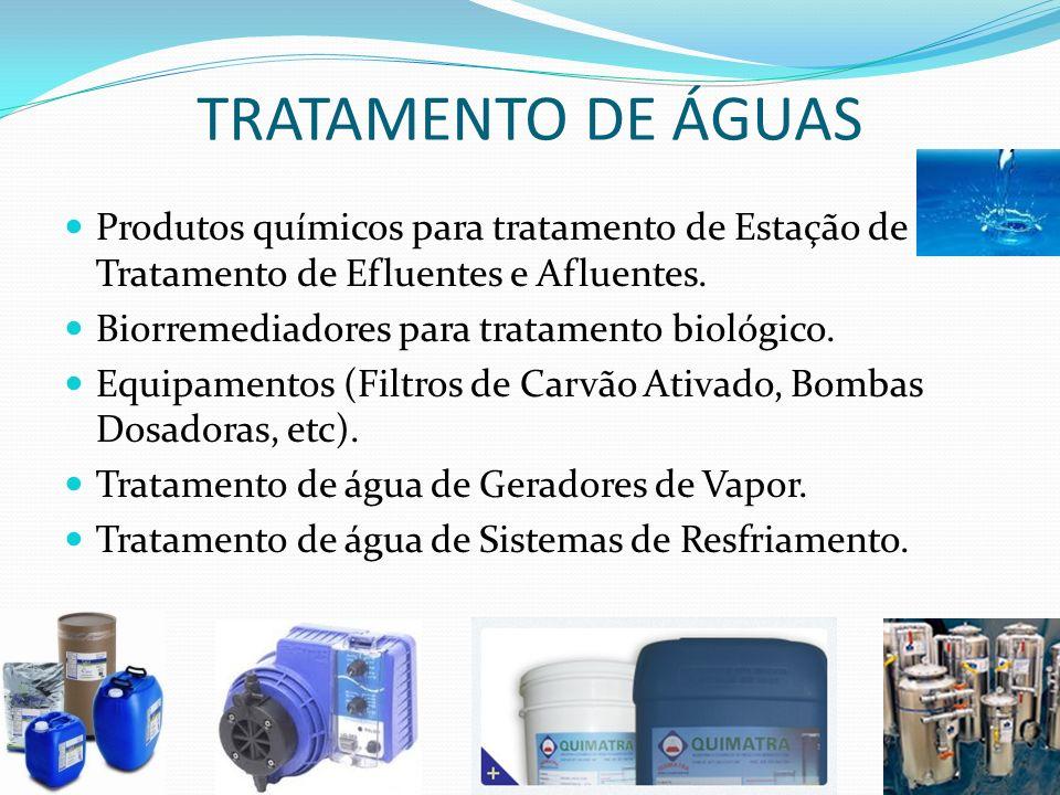 TRATAMENTO DE ÁGUAS Produtos químicos para tratamento de Estação de Tratamento de Efluentes e Afluentes.
