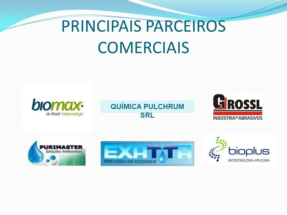 PRINCIPAIS PARCEIROS COMERCIAIS
