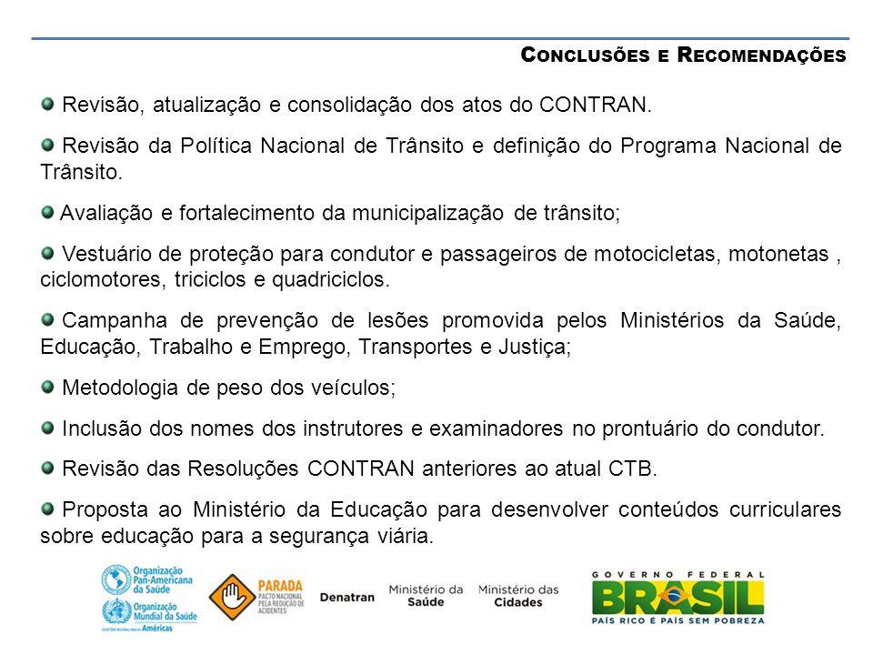 Revisão, atualização e consolidação dos atos do CONTRAN.