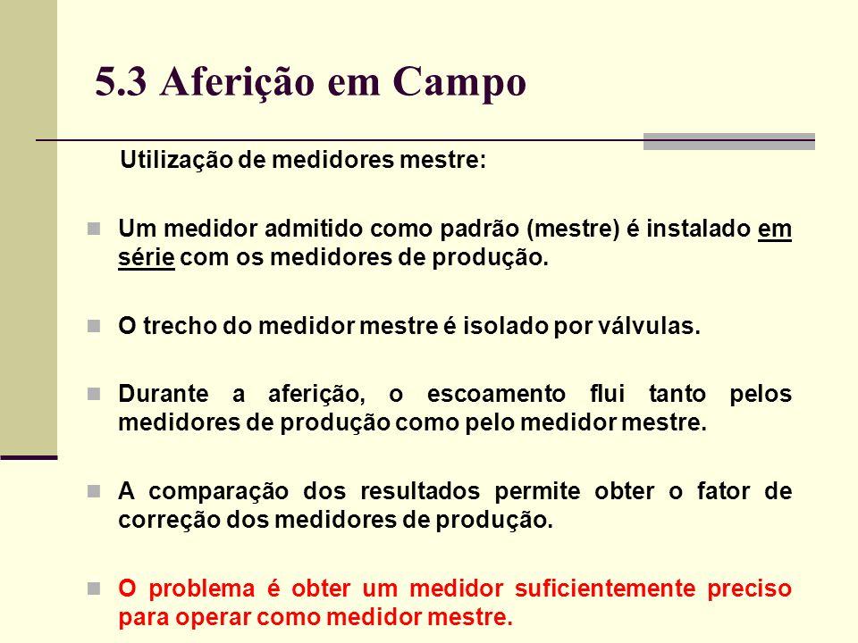 5.3 Aferição em Campo Utilização de medidores mestre: