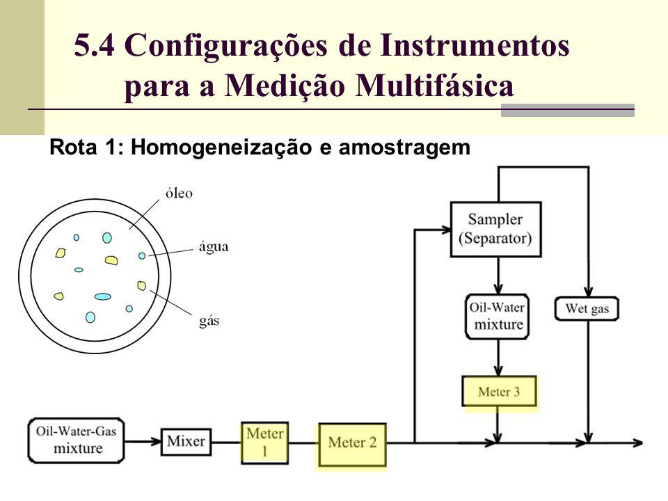 5.4 Configurações de Instrumentos para a Medição Multifásica