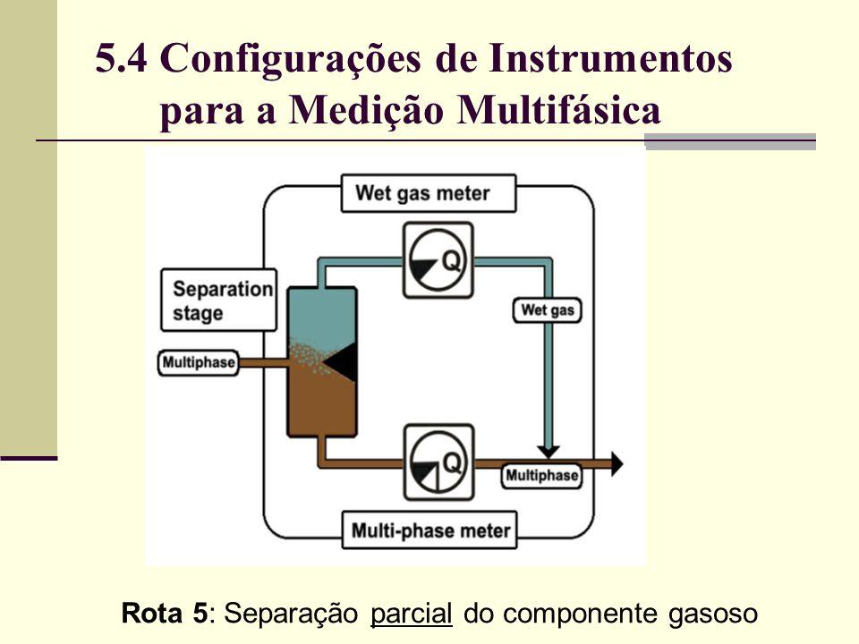 Rota 5: Separação parcial do componente gasoso