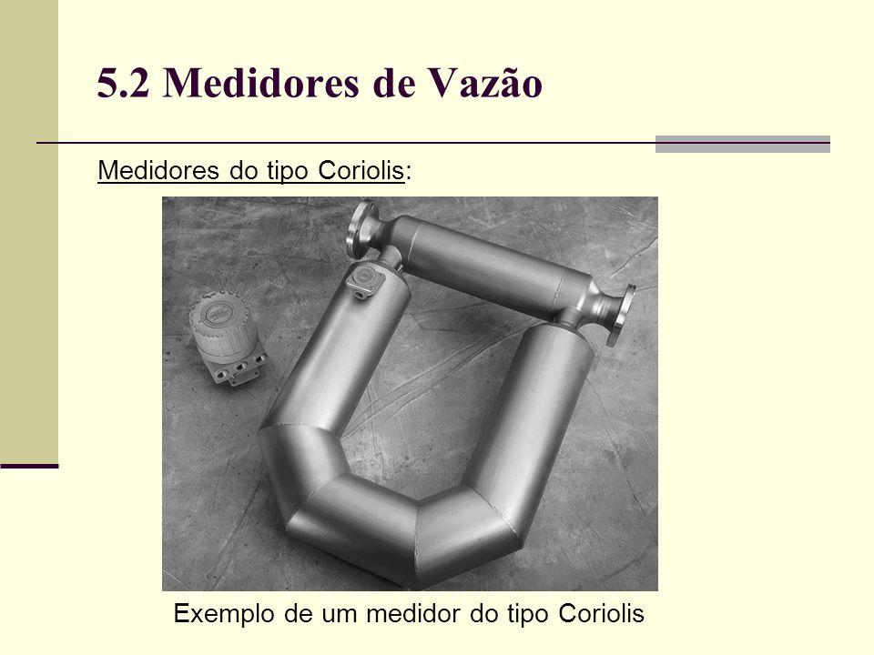 Exemplo de um medidor do tipo Coriolis