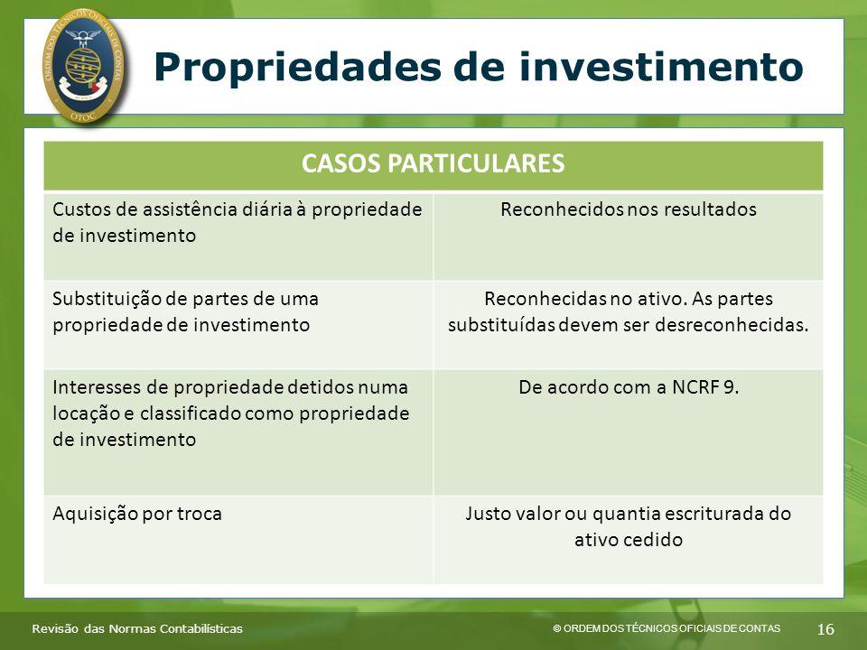 Propriedades de investimento