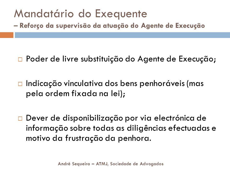 Mandatário do Exequente – Reforço da supervisão da atuação do Agente de Execução