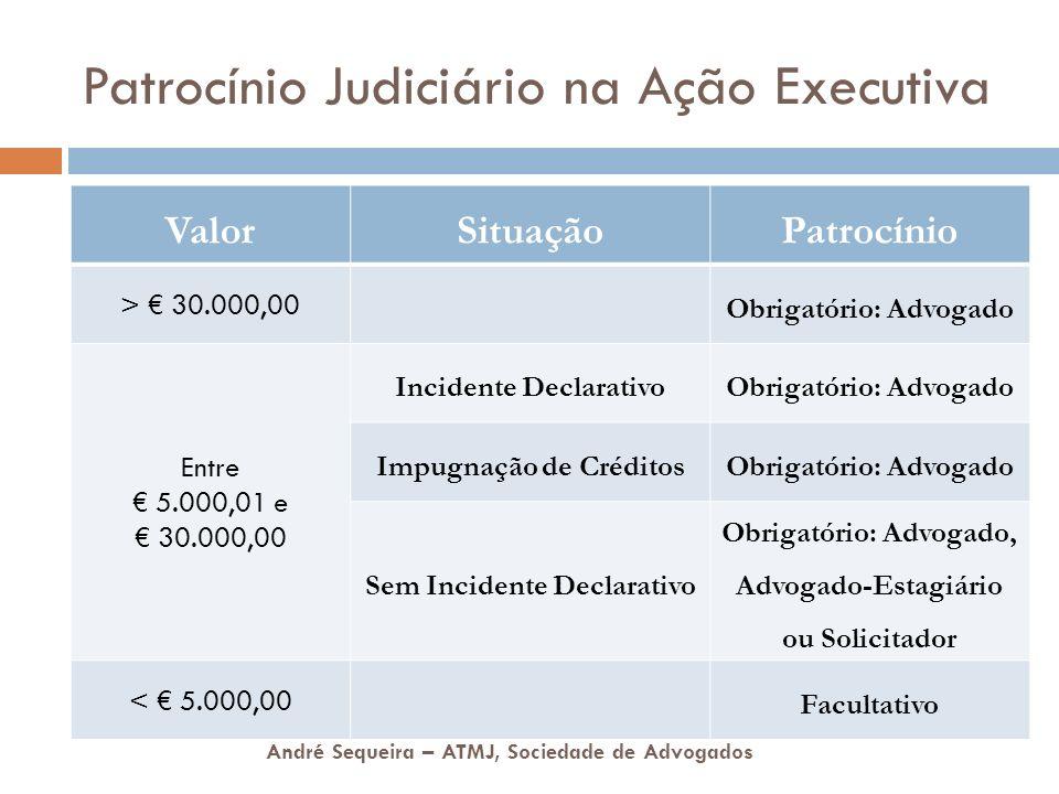 Patrocínio Judiciário na Ação Executiva