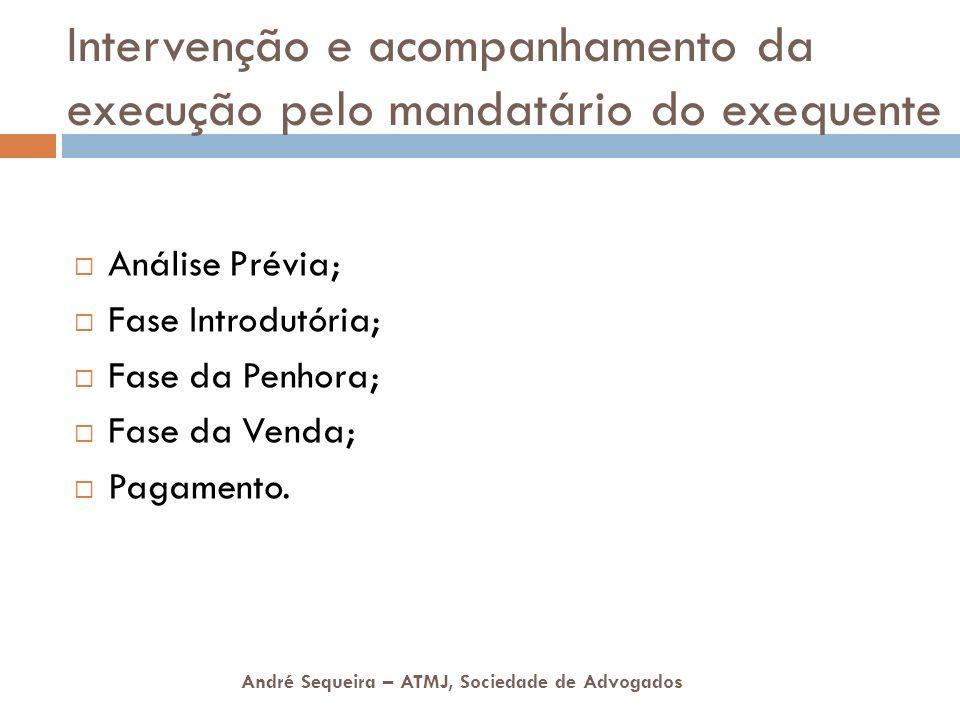 Intervenção e acompanhamento da execução pelo mandatário do exequente