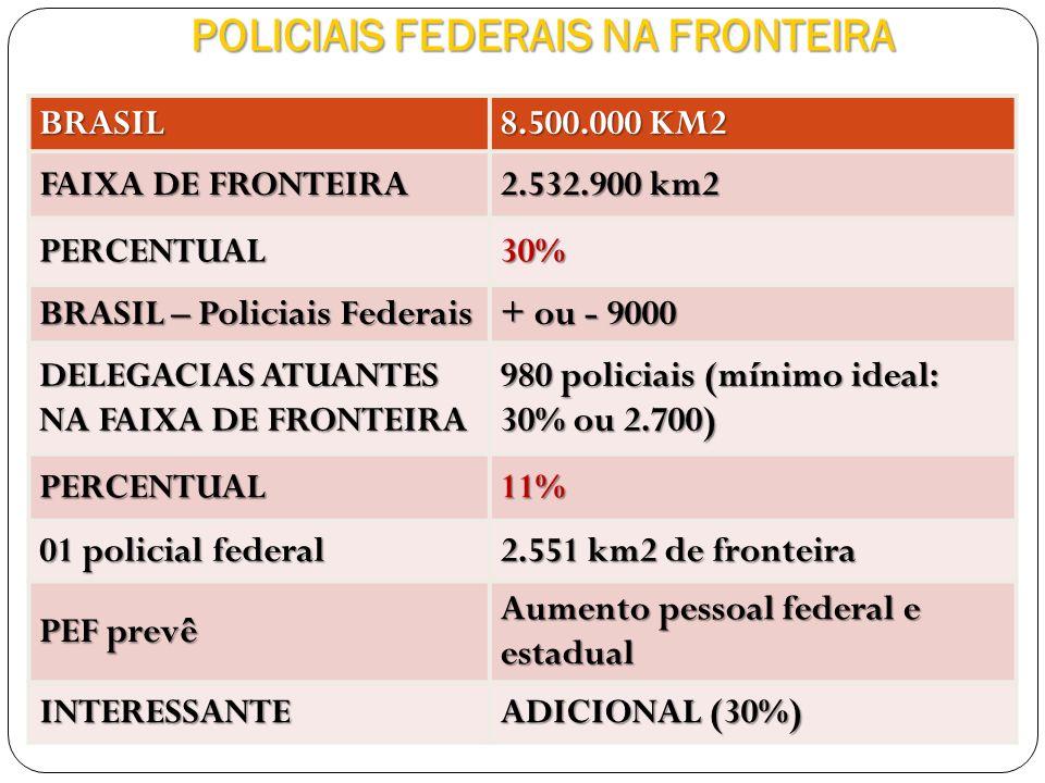 POLICIAIS FEDERAIS NA FRONTEIRA