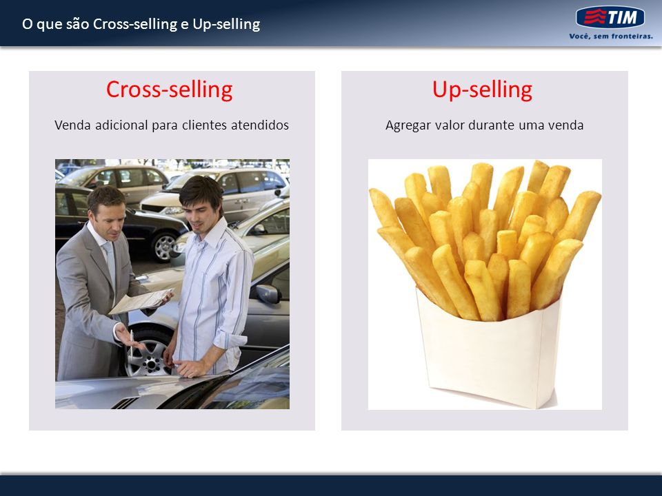 Cross-selling Up-selling O que são Cross-selling e Up-selling