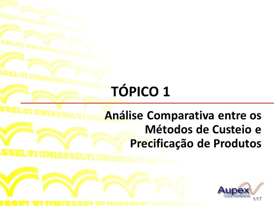 TÓPICO 1 Análise Comparativa entre os Métodos de Custeio e Precificação de Produtos 1/17