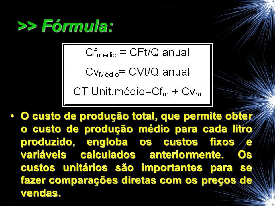>> Fórmula:
