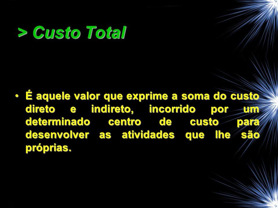 > Custo Total