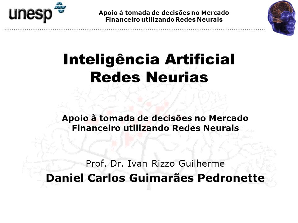 Inteligência Artificial Redes Neurias