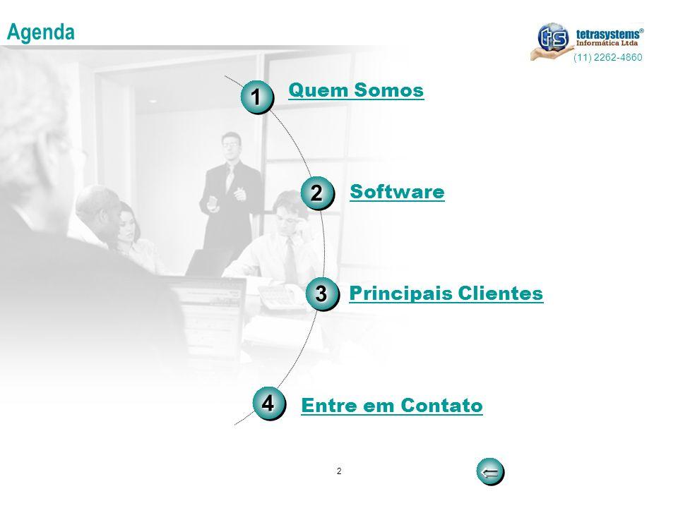 Agenda 1 2 3 4 Quem Somos Software Principais Clientes