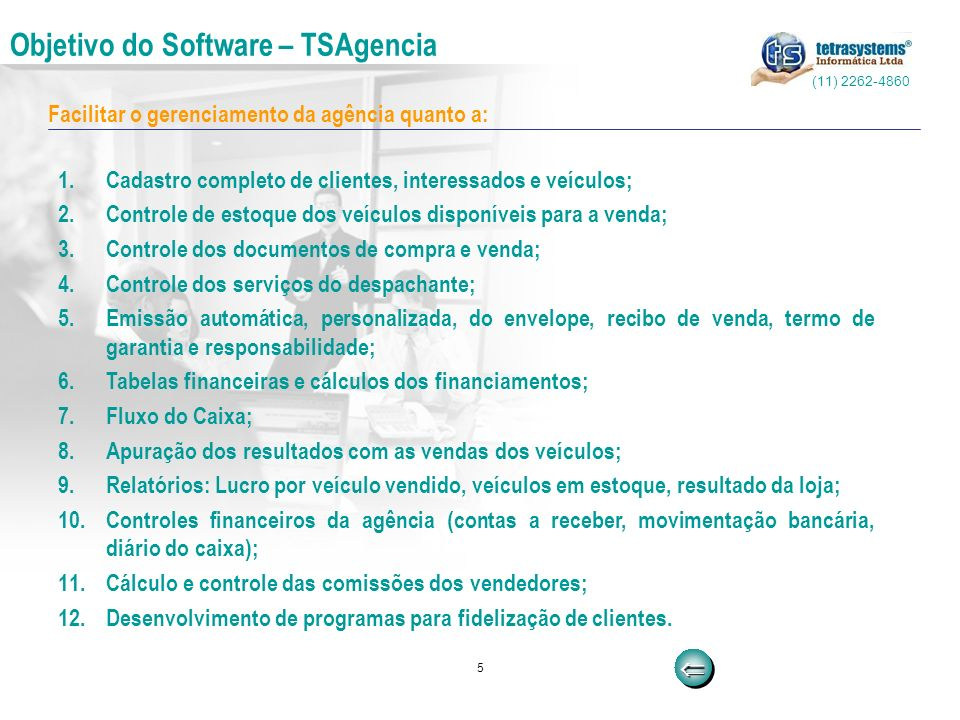 Objetivo do Software – TSAgencia