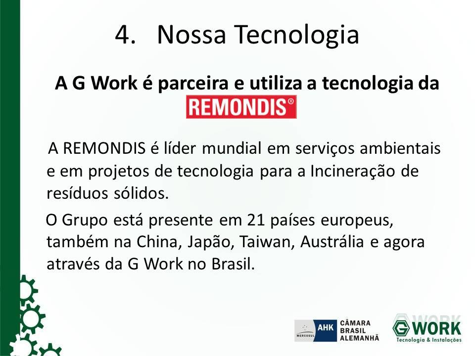 A G Work é parceira e utiliza a tecnologia da REMONDIS.