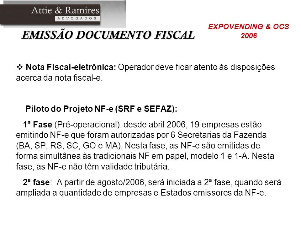 EMISSÃO DOCUMENTO FISCAL