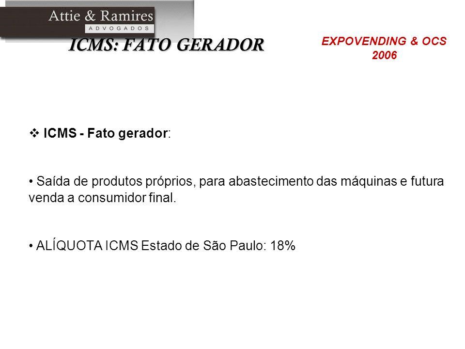 ICMS: FATO GERADOR ICMS - Fato gerador: