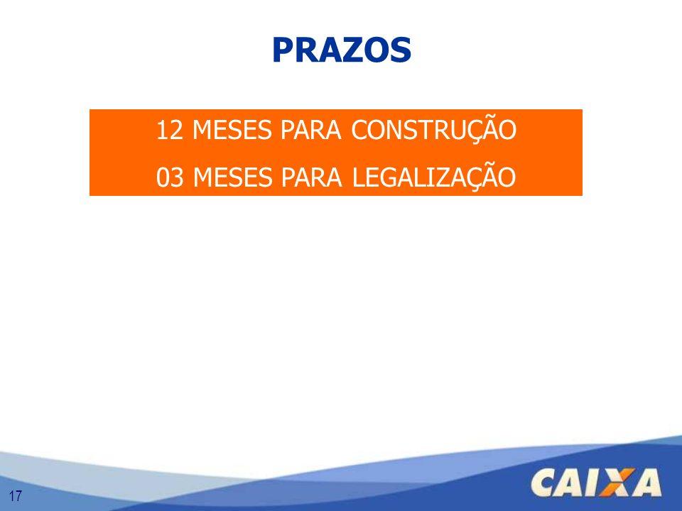 03 MESES PARA LEGALIZAÇÃO