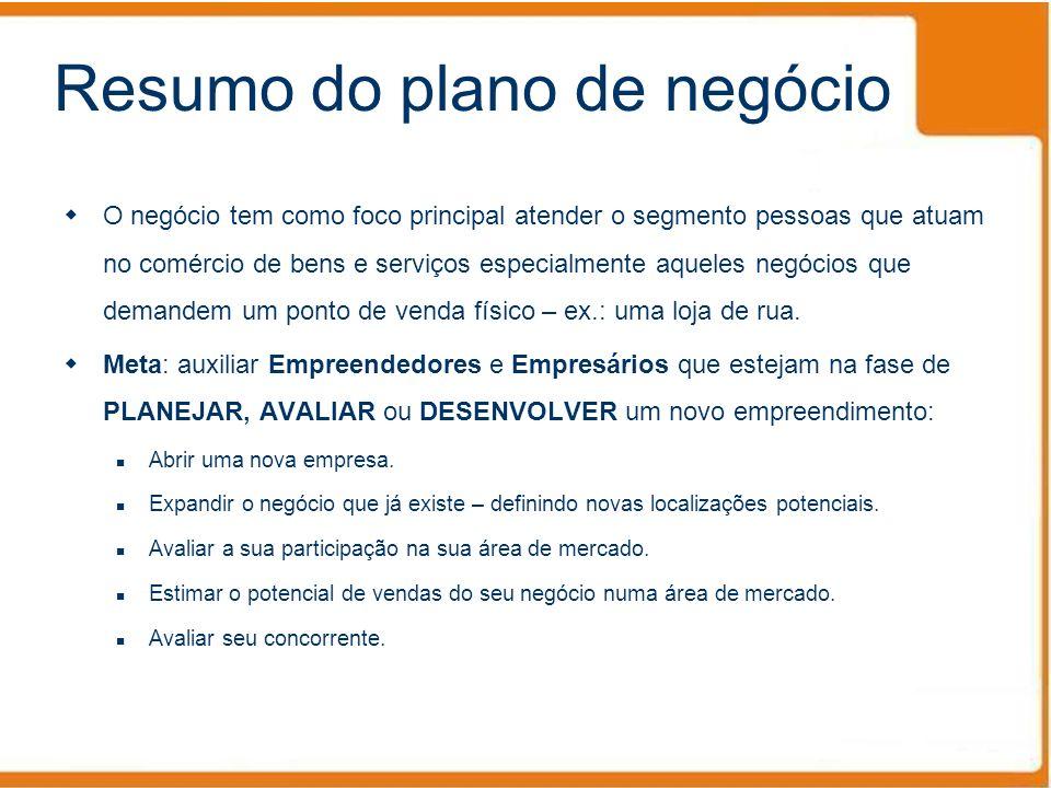 Resumo do plano de negócio