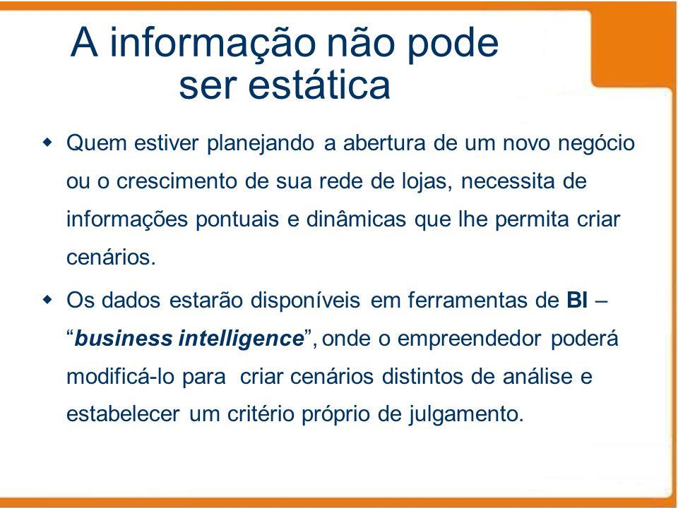 A informação não pode ser estática