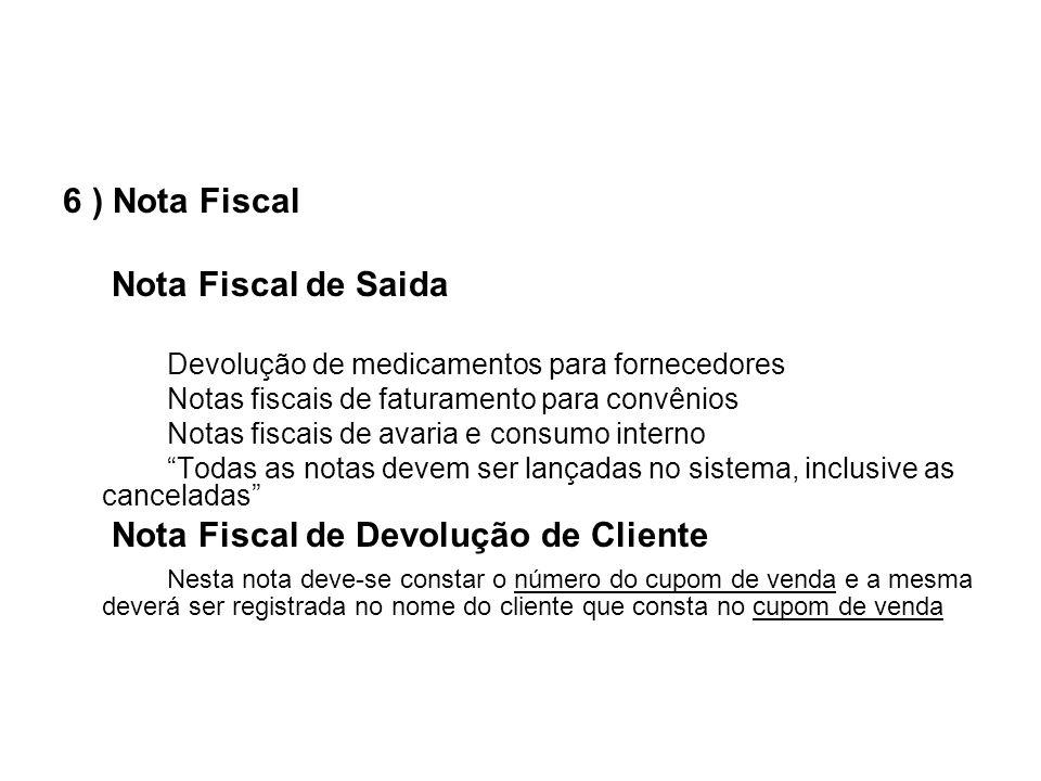 Nota Fiscal de Devolução de Cliente