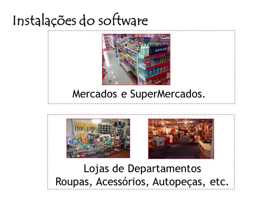 Instalações do software