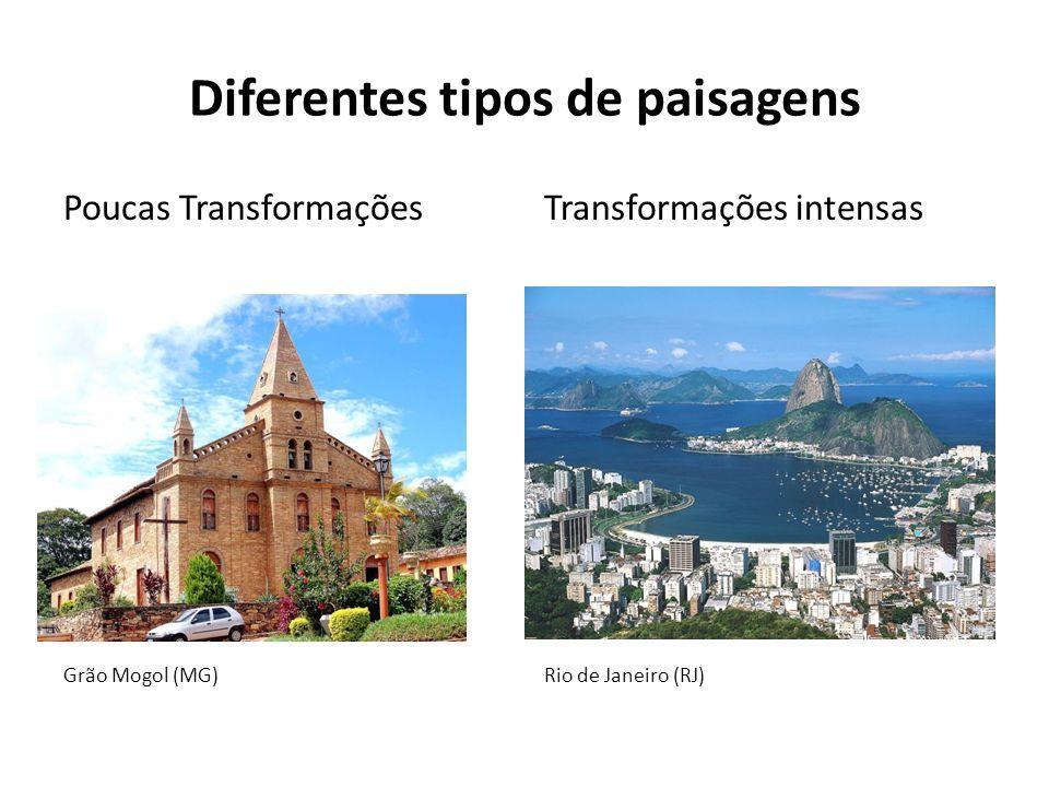 Diferentes tipos de paisagens