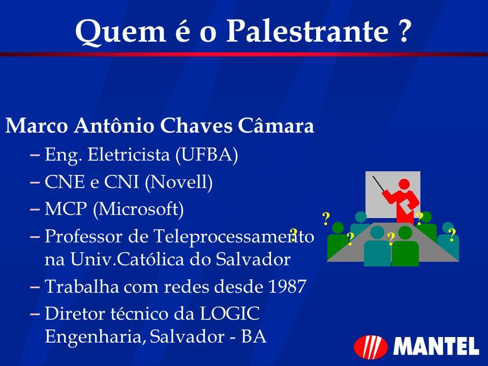 Quem é o Palestrante Marco Antônio Chaves Câmara