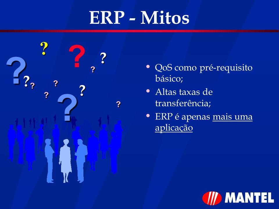 ERP - Mitos QoS como pré-requisito básico;