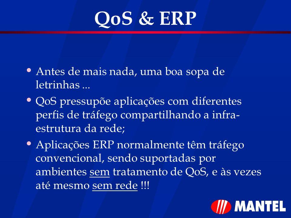QoS & ERP Antes de mais nada, uma boa sopa de letrinhas ...