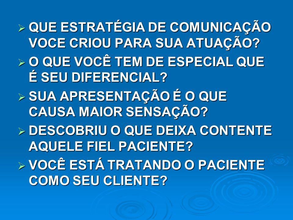 QUE ESTRATÉGIA DE COMUNICAÇÃO VOCE CRIOU PARA SUA ATUAÇÃO