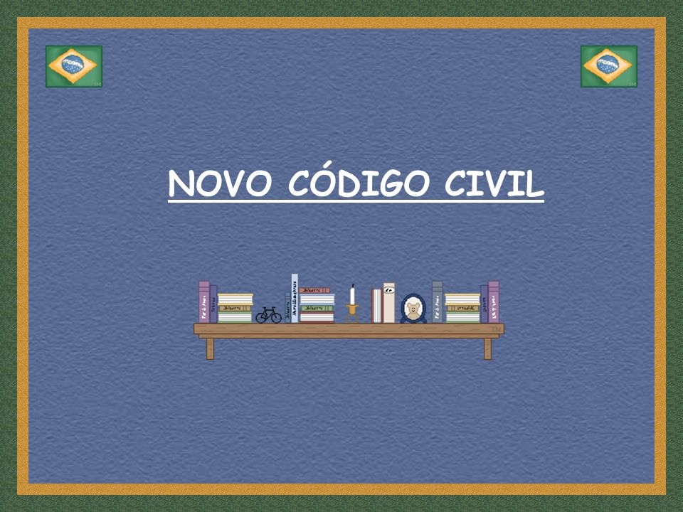 NOVO CÓDIGO CIVIL