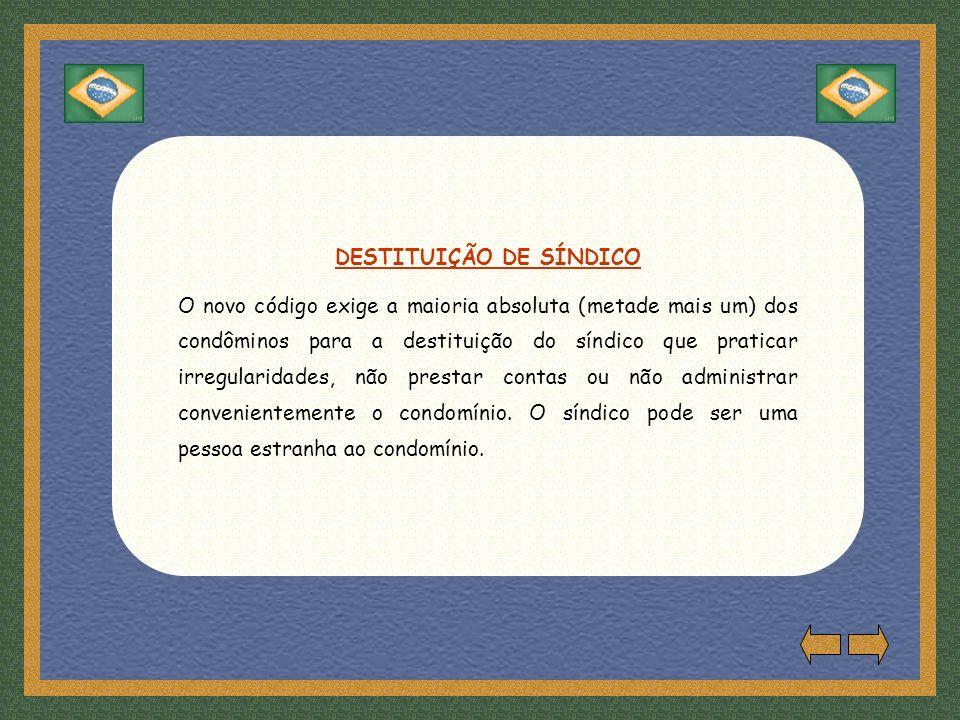 DESTITUIÇÃO DE SÍNDICO