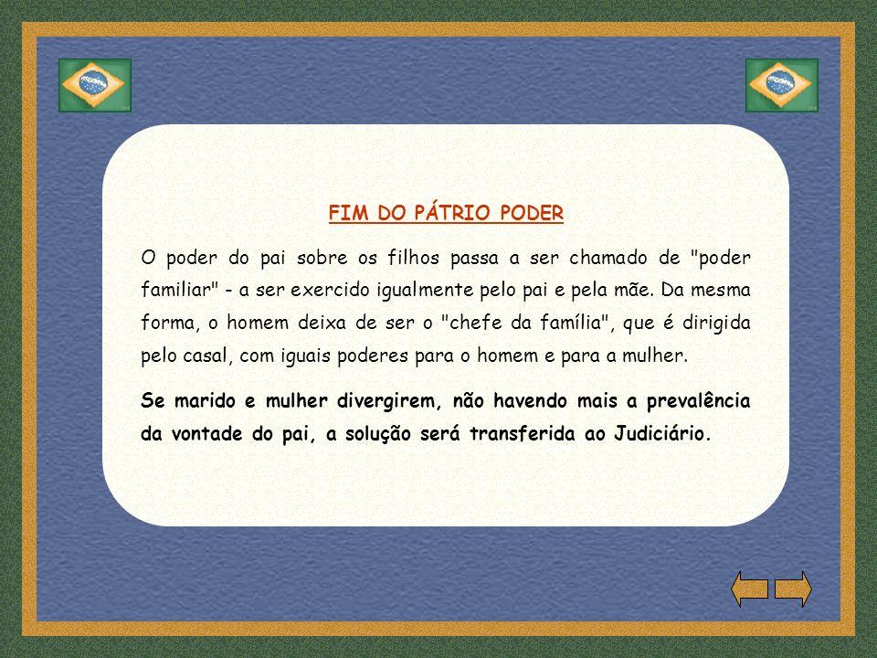 FIM DO PÁTRIO PODER