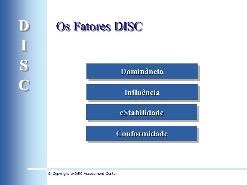 D I S C Os Fatores DISC Dominância Influência eStabilidade