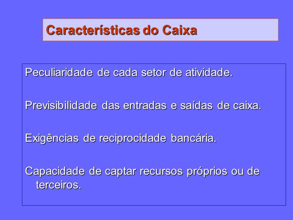 Características do Caixa