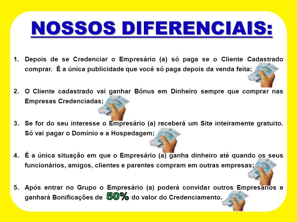 NOSSOS DIFERENCIAIS: