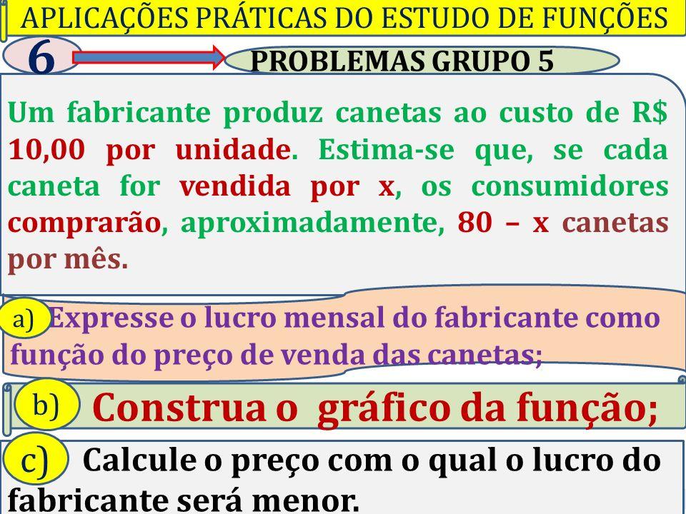APLICAÇÕES PRÁTICAS DO ESTUDO DE FUNÇÕES