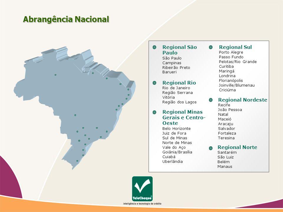 Abrangência Nacional Regional São Paulo Regional Rio Regional Sul