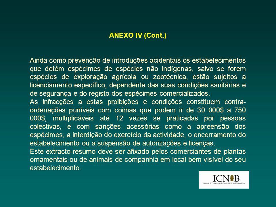 ANEXO IV (Cont.)