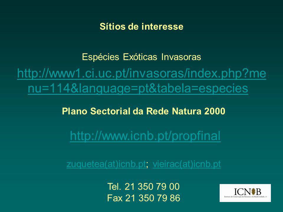 Plano Sectorial da Rede Natura 2000