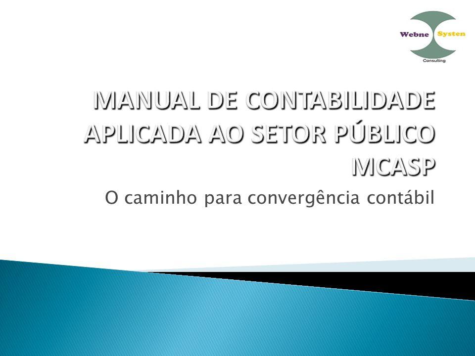 MANUAL DE CONTABILIDADE APLICADA AO SETOR PÚBLICO MCASP