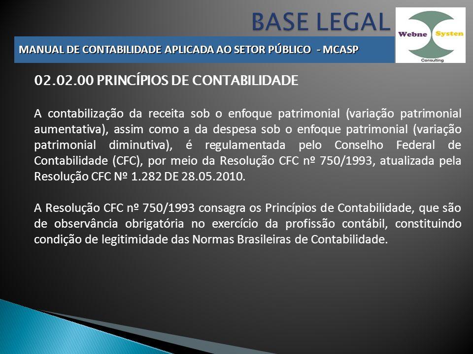 BASE LEGAL 02.02.00 PRINCÍPIOS DE CONTABILIDADE