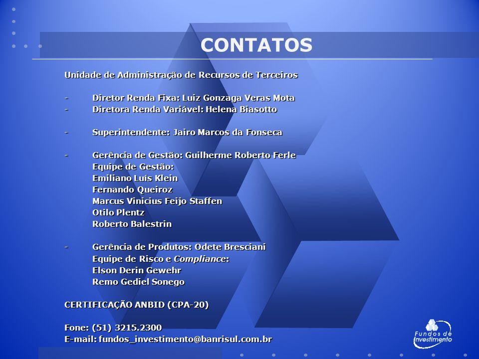 CONTATOS Unidade de Administração de Recursos de Terceiros