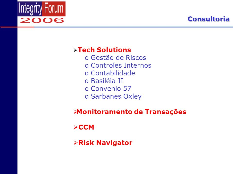 Monitoramento de Transações CCM Risk Navigator