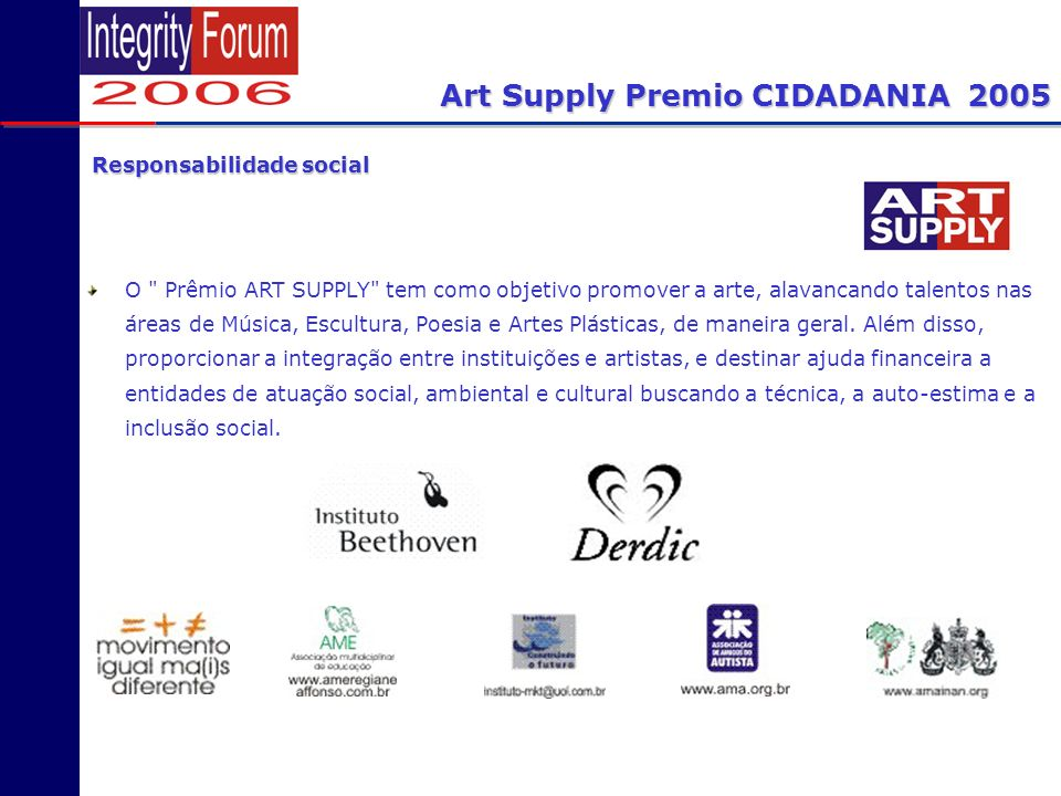 Art Supply Premio CIDADANIA 2005